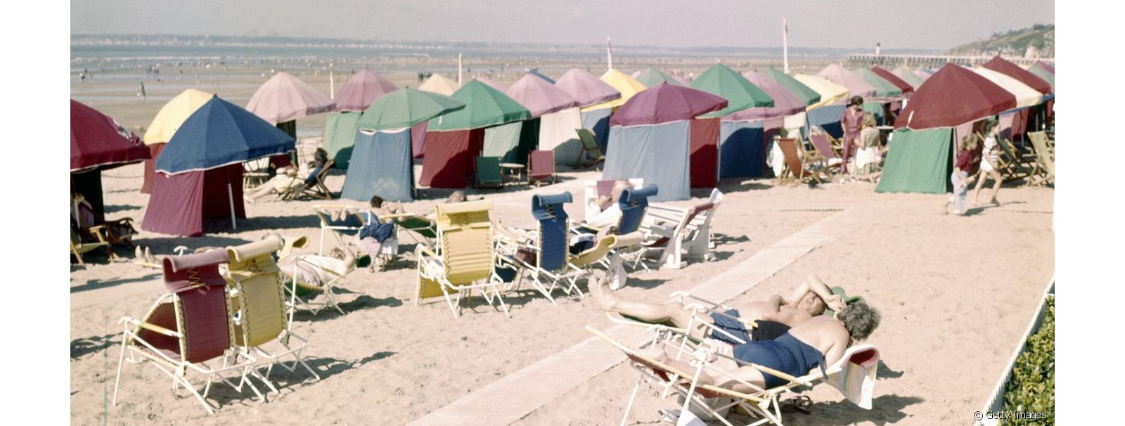 Deauville, sa plage glamour